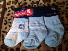 Новые носки Maximo Германия 0-2 м 3 пары