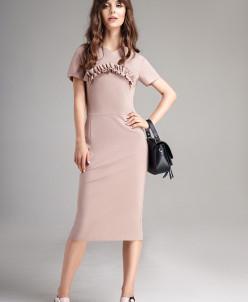 Р 1134 платье Цвет: капучино