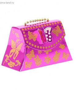 """Коробка сборная """"Бабочка"""", цвет малиновый"""