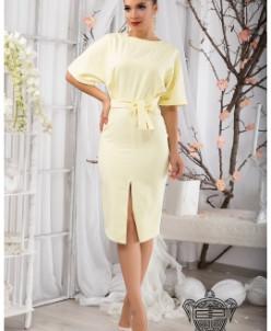 Деловое облегающее платье - 10556