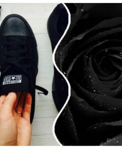 Черные низкие Converse AllStars!