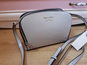 Новая кожаная сумка Италия серый лак