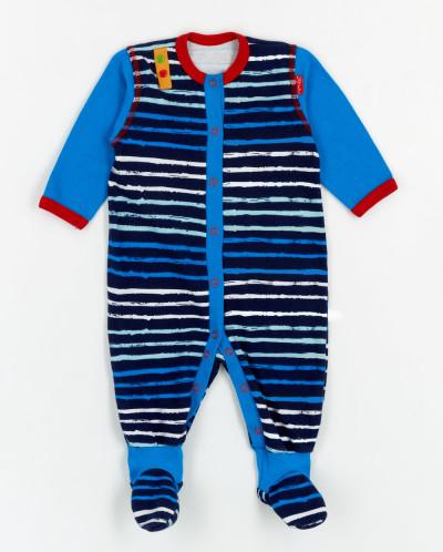 """73110 Комбинезон детский (Трия)синий; рисунок: """"полоска""""; от"""