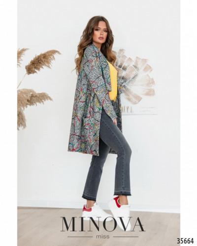 Пальто №530-1-Серый