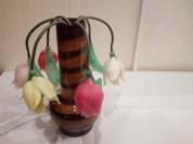 """Старинный, ретро светильник-ночник""""Тюльпаны в вазе"""