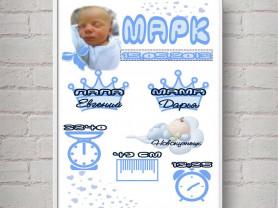 Метрика-постер детская