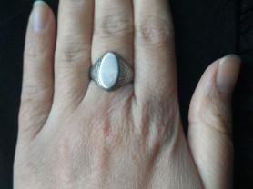 Серебряное кольцо- печатка женская винтаж