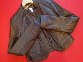 Модная кожаная куртка 44