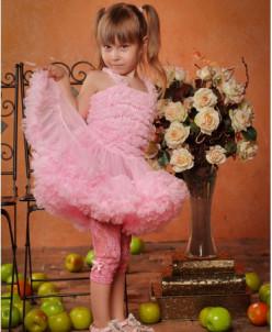 Леггинсы ажурные (розовые)
