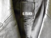 Мужской кожаный плащ AL franco