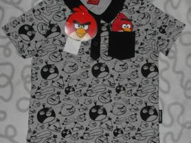 Новая футболка-поло Angry Birds, 3-4 года