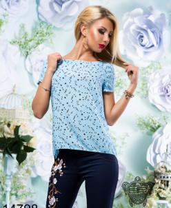 Легкая штапельная блуза - 14798