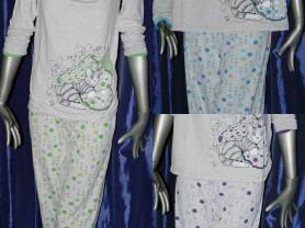 Пижама женская (Футболка с длинным рукавом + штаны