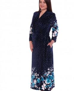 Халат женский Флоранс (3260). Расцветка: ментоловые цветы