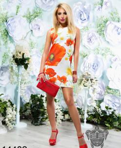 Платье с коротким рукавом - 14482