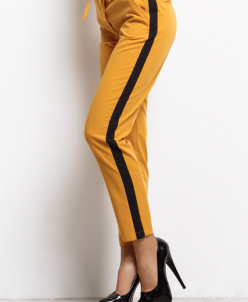 Женские брюки 16637 горчица