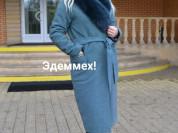 Зимнее пальто с меховым воротником, размерный ряд: