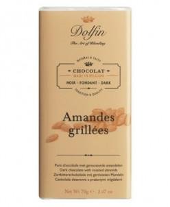 Тёмный шоколад с миндалём, 70 гр.