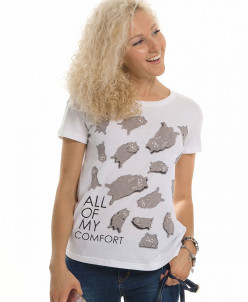 DFT6644 футболка женская