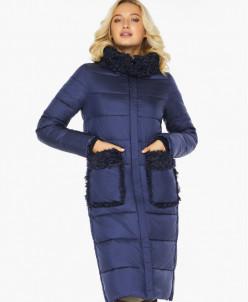 Женский воздуховик зимний качественного пошива цвет синий ба