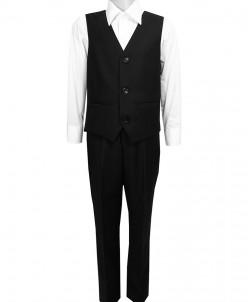 Школьный костюм-двойка UNIK KIDS, жилетка+брюки, черный