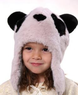 """Зимняя шапка для девочки """"Панда"""""""