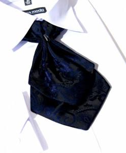 ГАЛСТУК-ЖАБО+платок синий с черным