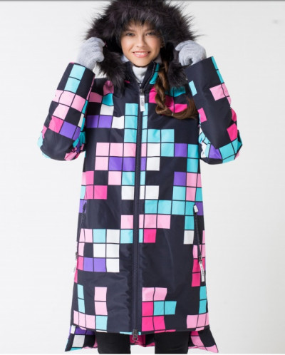 Пальто зимнее девочка CUBBY by Крокид Crockid зима 19-20