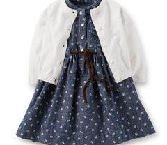 Новый комплект из 3 предметов carters 24м платье