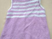 Вязаное платье на 3-4г