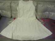 Платье сарафан белое лен хлопок р 50 замеры