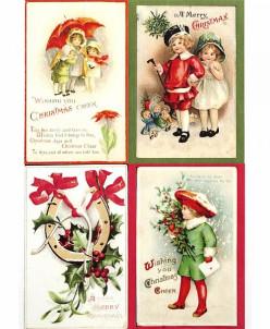 """Рисовая карта для декупажа """"Старинные рождественские открытк"""