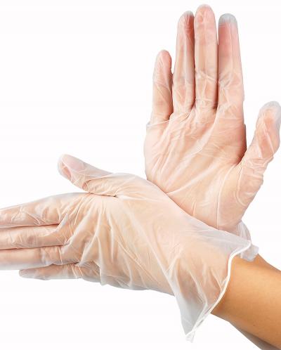 Перчатки виниловые неопудренные размер М 100 шт.