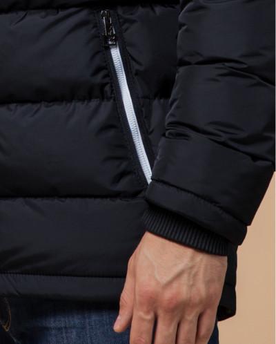 Темно-сине-белая куртка практичная модель 29068