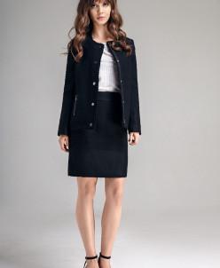 Р1155 костюм (жакет, юбка)  Цвет: черный