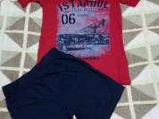 Комплект новый шорты + футболка р.122-128 на 7-8 л