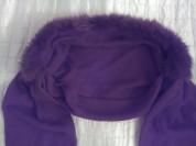 Двойной шарф-капор, с натуральным мехом песца, Ита