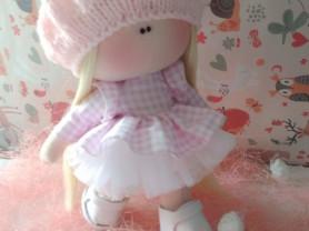 Текстильная кукла ручной работы 20см