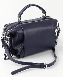 Женская кожаная сумка  1837-1 Матовый Блу