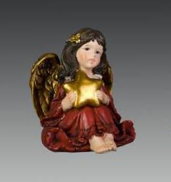 Ангел в красном платье сидящий со звездочкой