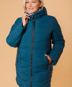 Женская куртка 853-135 темно-бирюзовая