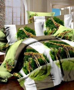 Поплин 3Д - Жирафы (327)