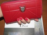 Кошелек Dior, красный. Новый