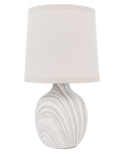"""Настольная лампа 14,5*14,5*26,5 см """"Мраморная"""" + круг. абажу"""