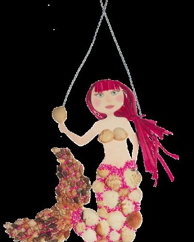 Русалка Панно из ракушек