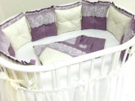 Бортики в овальную кроватку (можно и для обычной)