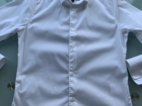Белая рубашка (школьная) р.152 (9-11л) в идеале!