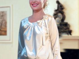 Блуза атласная для беременных новая с этикетками