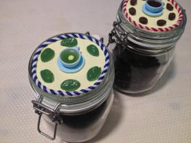 Чайная баночка с декором ручной работы