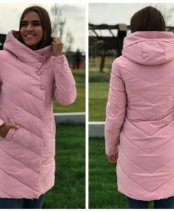 Женская куртка 6067 нежно-розовая